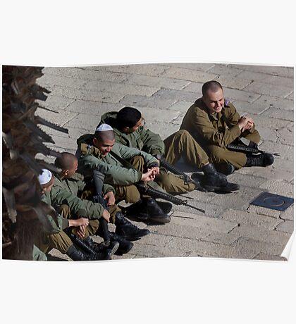 Israeli soldiers Poster