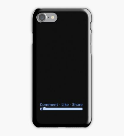 LIKE COMMENT SHARE iPhone Case/Skin