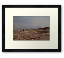 The Dead Sea from Masada fortress Framed Print
