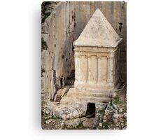 Prayer at a prophet's tomb, Jerusalem Canvas Print