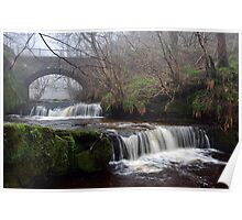 Garell Glen Waterfall,Kilsyth,Scotland Poster