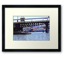 Under a bridge Framed Print