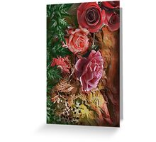 Background with flowers . Greeting Card