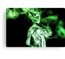 Smokey Lady in Green Canvas Print