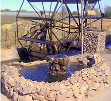 Waterwheel (Bakkiespomp)  by Irene  van Vuuren
