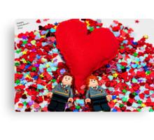 Lego Valentine Canvas Print