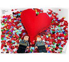 Lego Valentine Poster
