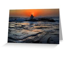 Splash at Sunrise Greeting Card