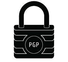 PGP Encryption Sticker by N-O-D-E