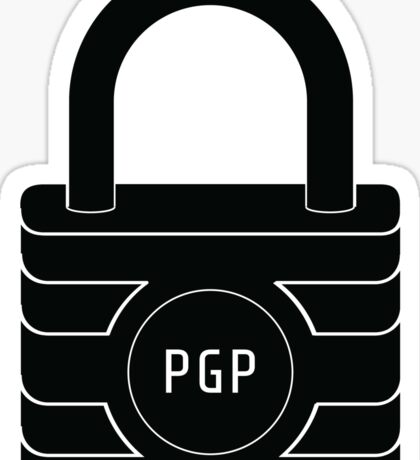 PGP Encryption Sticker Sticker