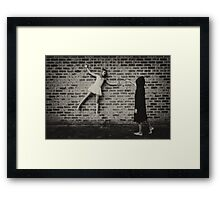 Can't leave them for a moment!! Framed Print