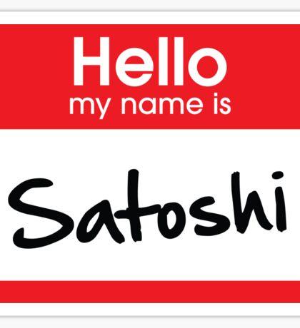 Satoshi Nakamoto (Bitcoin) Sticker Sticker