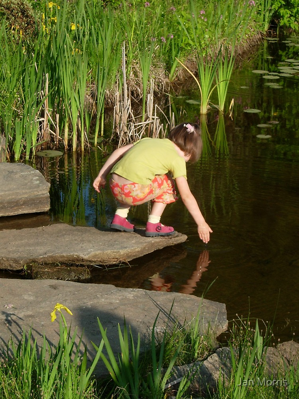 Girl at Fish Pond by Jan Morris
