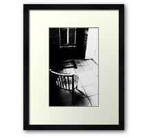 empty easel Framed Print