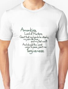 Thane's Prayer to Amonkira Unisex T-Shirt