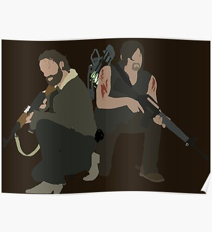 Daryl Dixon and Rick Grimes - The Walking Dead Poster