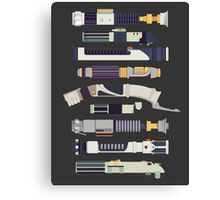 Sabers - Star Wars Inspired Minimalist Infographic Canvas Print