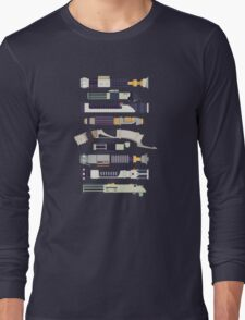 Sabers - Star Wars Inspired Minimalist Infographic Long Sleeve T-Shirt