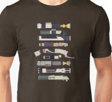 Sabers - Star Wars Inspired Minimalist Infographic Unisex T-Shirt