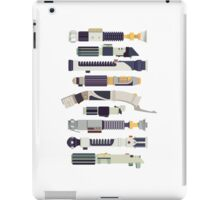 Sabers - Star Wars Inspired Minimalist Infographic iPad Case/Skin