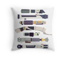 Sabers - Star Wars Inspired Minimalist Infographic Throw Pillow
