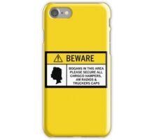 Caution - Bogans iPhone Case/Skin