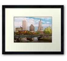 City - Rhode Island - Providence - The city of Providence, RI Framed Print