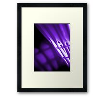 Purple Shuttlecock Wall Art Framed Print
