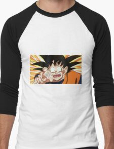 Goku, reaching for the last of the fairy bread Men's Baseball ¾ T-Shirt