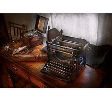 Steampunk - Typewriter - The secret messenger  Photographic Print
