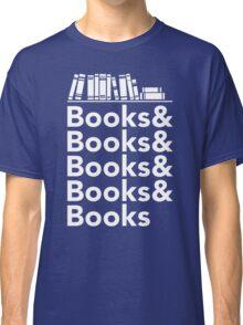 Books | Literary Book Nerd Helvetica Typography Classic T-Shirt