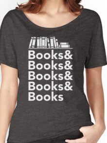 Books | Literary Book Nerd Helvetica Typography Women's Relaxed Fit T-Shirt