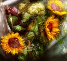 Flower - Sunflower - Gardeners toolbox  by Mike  Savad