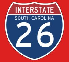 Interstate Sign 26 South Carolina, USA Kids Tee