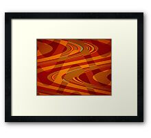 Orange Curves Framed Print