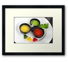 Cup Meeting 4 Pepper Tricolore  Framed Print