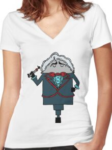 The Third Doctor Women's Fitted V-Neck T-Shirt