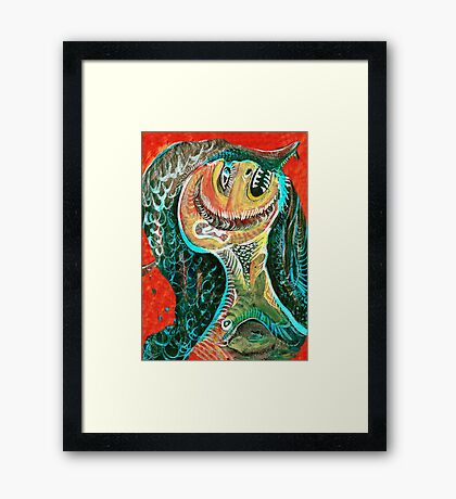 The Big Tooth Ache Framed Print