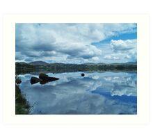 Lough Eske Reflection Art Print