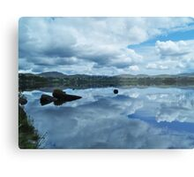 Lough Eske Reflection Metal Print