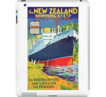 New Zealand Vintage Travel Poster Restored iPad Case/Skin
