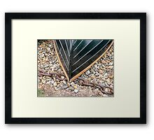 Fibre-glass clinker boat Framed Print