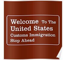 Welcome to the United States Sign Poster