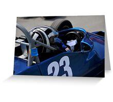 Racing Car Greeting Card
