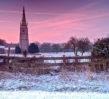 """Dusting over St Andrew's, Asgarby"" by Bradley Shawn  Rabon"