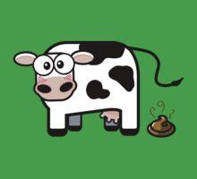 Funny Pooping Cow Kids Tee