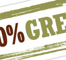 100% Green Sticker