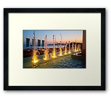 Mirage Hotel fountain. Cascais Framed Print