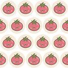 Happy Kawaii Tomato by Lisa Marie Robinson
