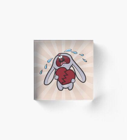 Broken Hearted Bunny Acrylic Block
